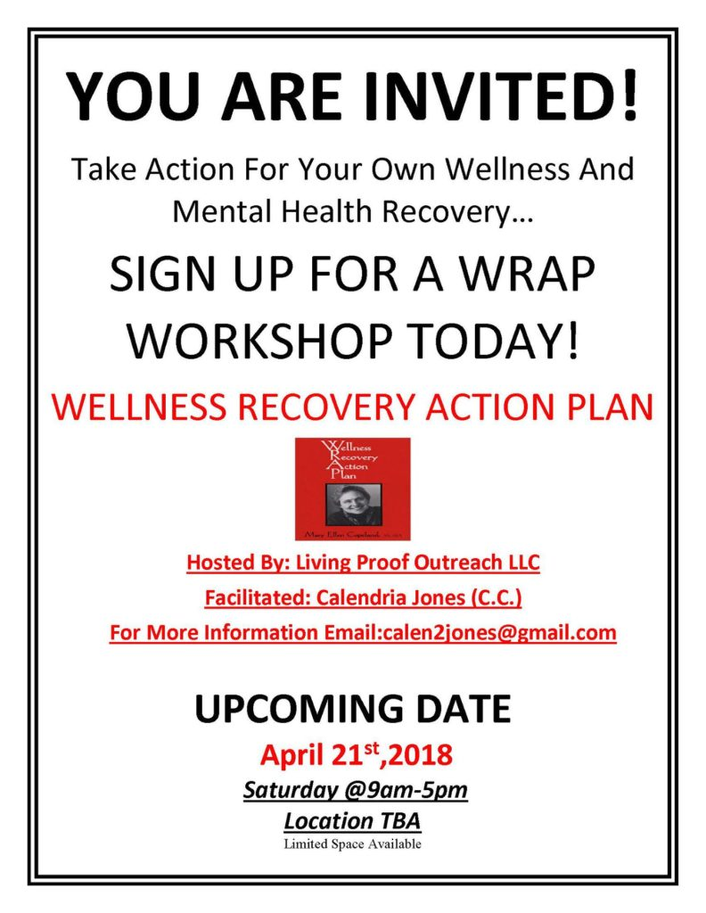 Resource Wellness Recovery Action Plan Wrap Workshop April 21