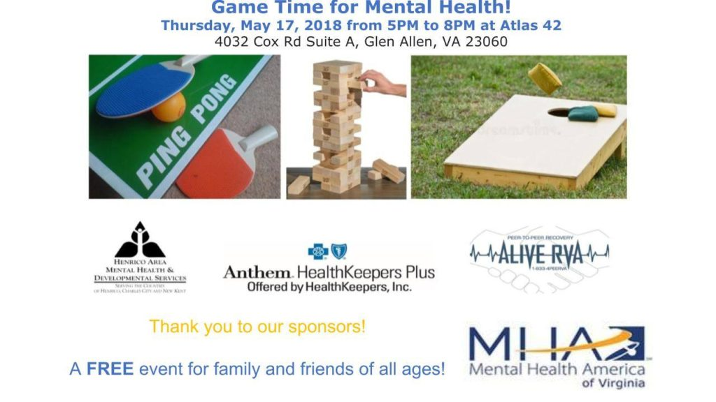 Game Time for Mental Health May 17