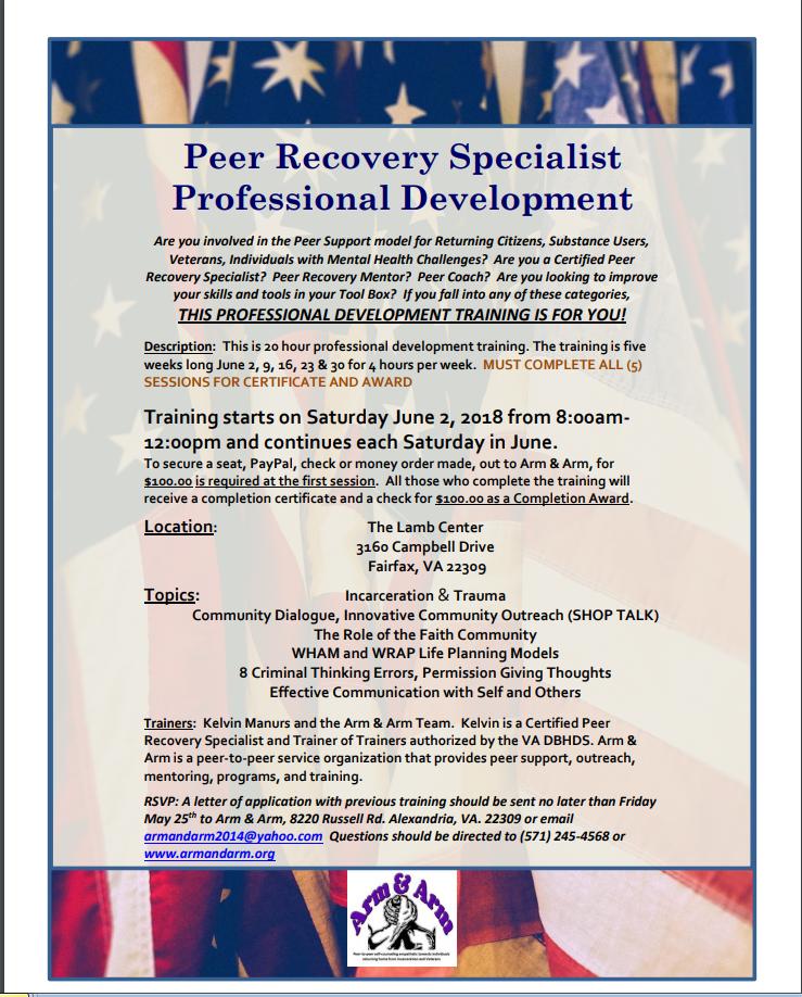 PRS Professional Development June 2018 Fairfax
