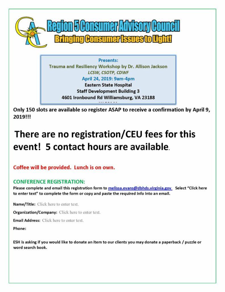 Trauma & Resiliency Workshop Apr 24