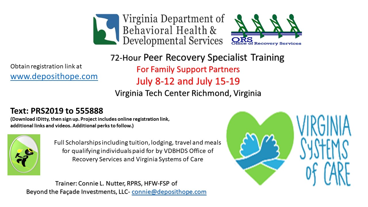 Training: PRS Training July 2019 for Family Support Partners